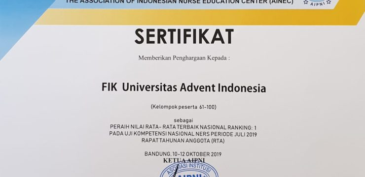 Penghargaan Ujian Kompetensi Ners 2019
